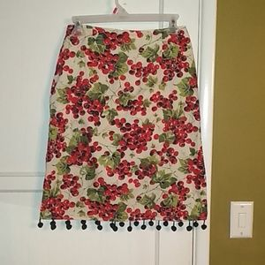 Dresses & Skirts - Adorable rockabilly style cherry skirt